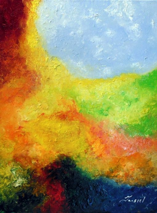 Jaasiel Barrientos - Ethereal - Oil on gallery wrapped canvas 18x24 $400