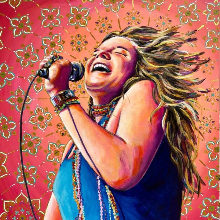 "Janice Joplin - Acrylic on Canvas, 30"" x 24""$340"