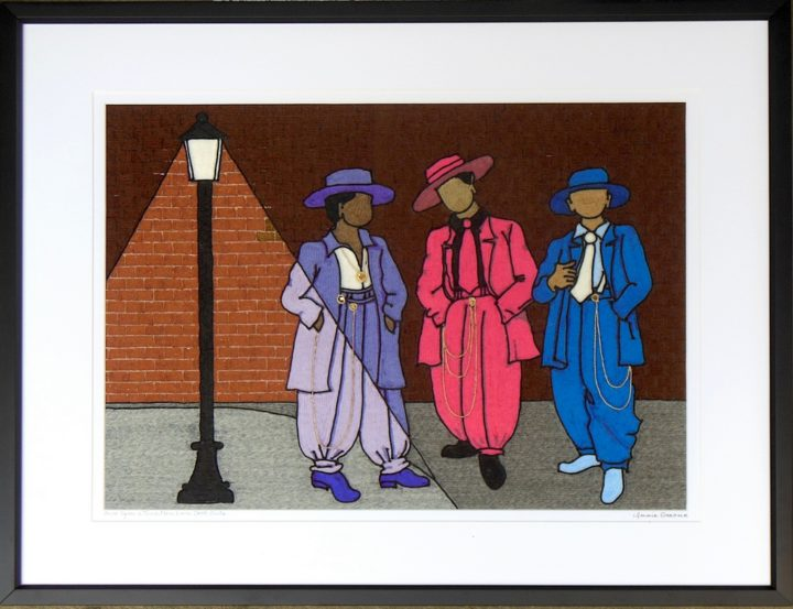Once Upon a time Men wore zoot suits 1 (Brick wall at Night)