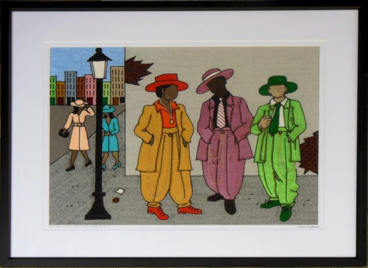 SOLD Once Upon a time Men wore zoot suits 2 (Corner & day)