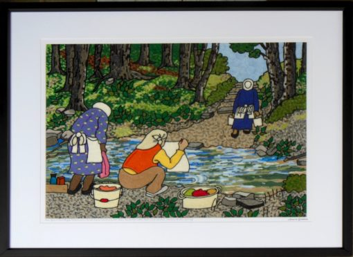 Once Upon a time Poeple lived in rural areas and washed their clothes at the spring