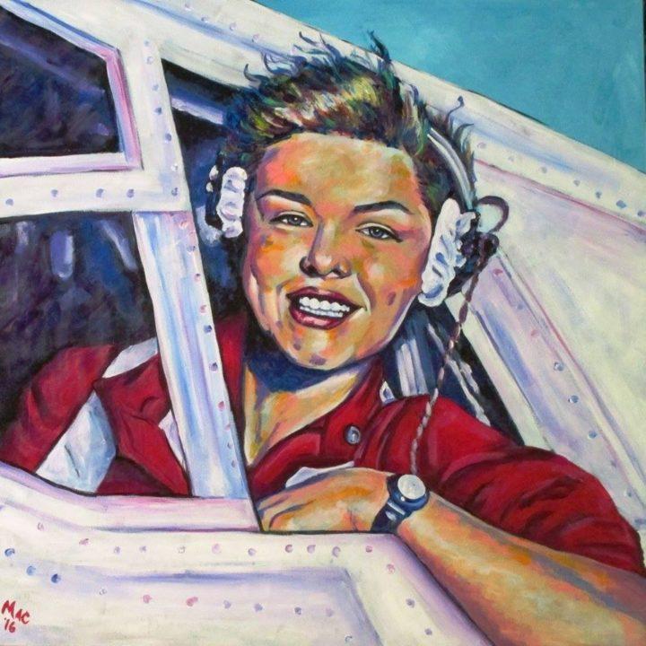 "Libby Gardner - Acrylic on Canvas 24"" x 24"" $300"