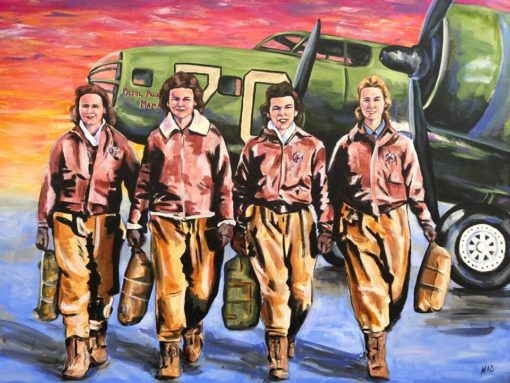 "Packing Pistol Mamas - Acrylic on Canvas 30"" x 40"" $475"