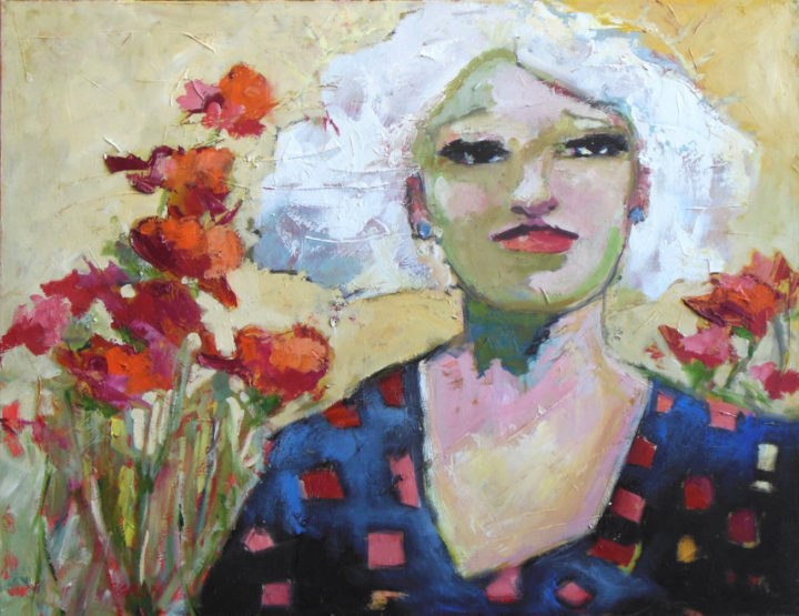 "Corinne Galla - Barbara - oil on canvas 30"" x 24"" $800"