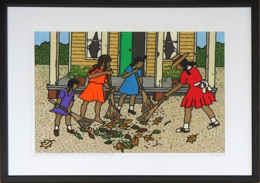 Once upon a time People swept thier yards with straw brooms