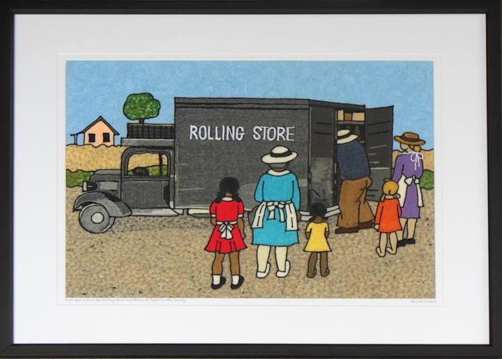 Once upon a time The Rolling store sold items to people in the county