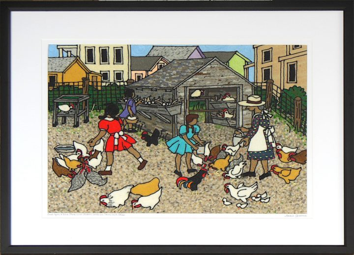 Once upon a time There were chicken yards in towns and cities
