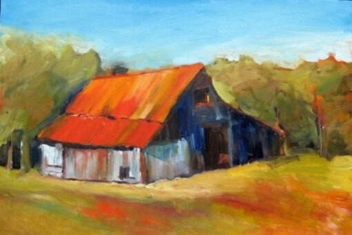 Red Roof Barn by Corinne Galla