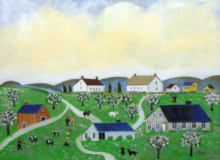 Mike Ottensmeyer Kimble-Esque #1 18x24 Acrylics $350