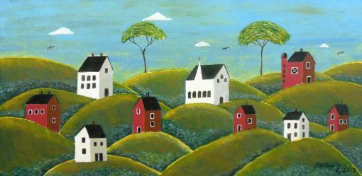 Mike Ottensmeyer Kimble-Esque #2 15x30 Acrylics $360