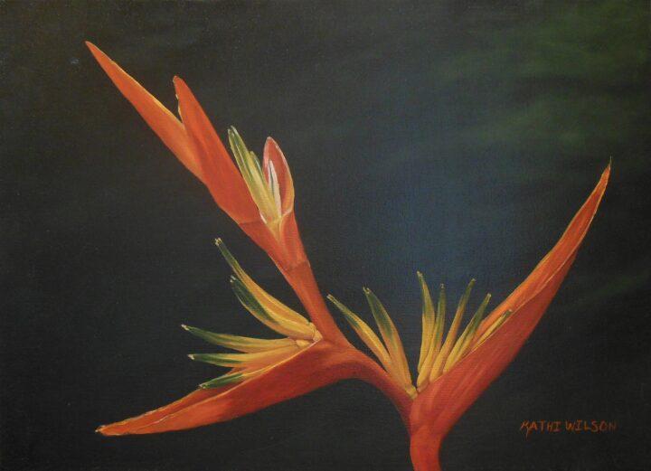 Kahti Wilson Bird of Paradise 14x18 $125