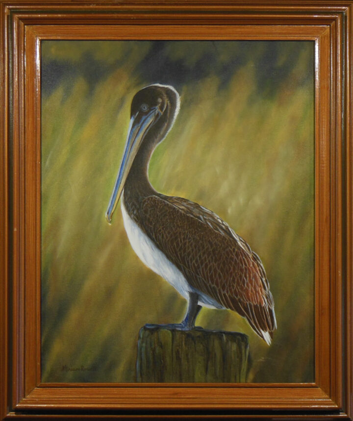Standing watch Framed by Miriam Rowell 21.5x24.5