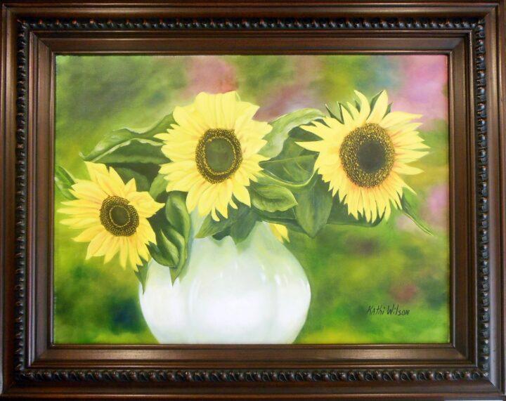 Kathi Wilson Sunflowers 31x24 $275