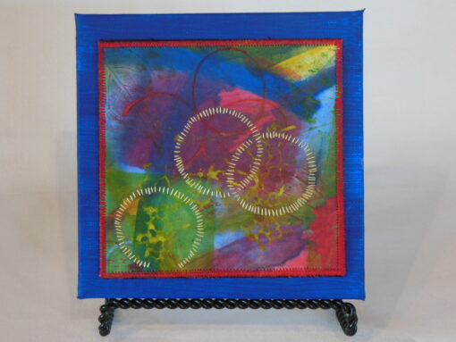 Tiny quilt on canvas #2 by JoAnn Camp