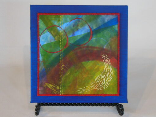 Tiny quilt on canvas #3 by JoAnn Camp
