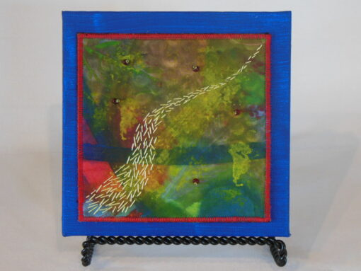 Tiny quilt on canvas #4 by JoAnn Camp