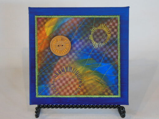 Tiny quilt on canvas #7 by JoAnn Camp