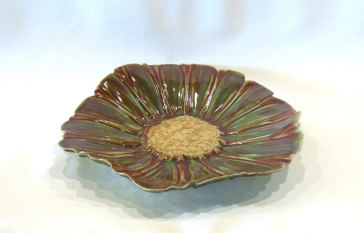 Flower Bowl-Tray Brown