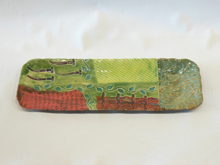 Rectangular Tray Green-Red