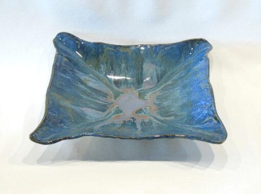 Square Bowl-Tray Blue