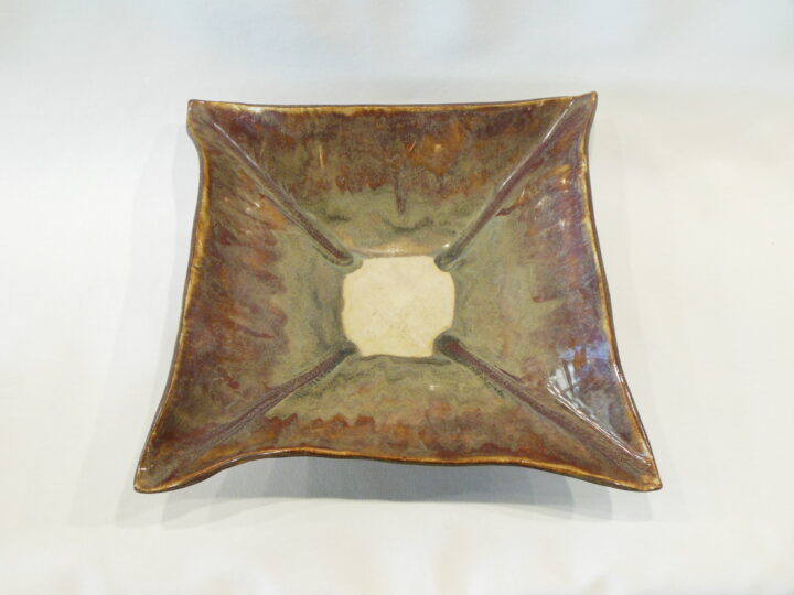 Square Bowl-Tray Brown