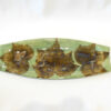 Confederate Rose Leaf Rectangular Tray Medium Green