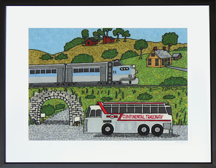Once upon a time trains and buses were the main means of transportation
