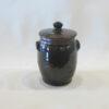Allen Gee Dark Brown lidded jar