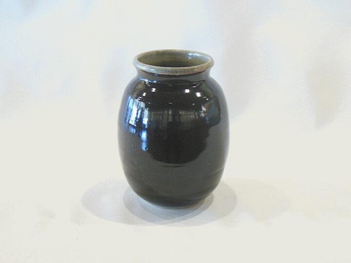Allen Gee Open Vase Dark Brown Tall