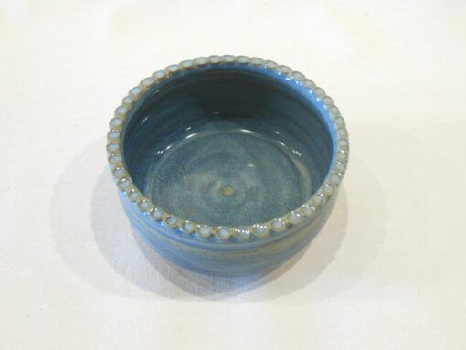 Allen Gee little bowl with edge indentes blue(2)