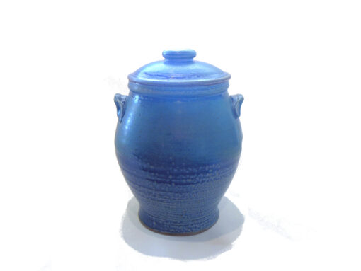 Jennifer Stott Light Blue lidded jar tall