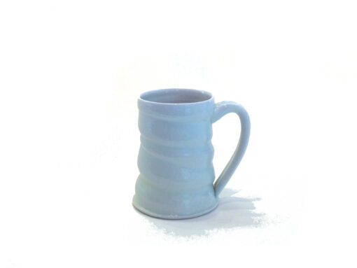 Jennifer Stott White Coffee Mug with swirls