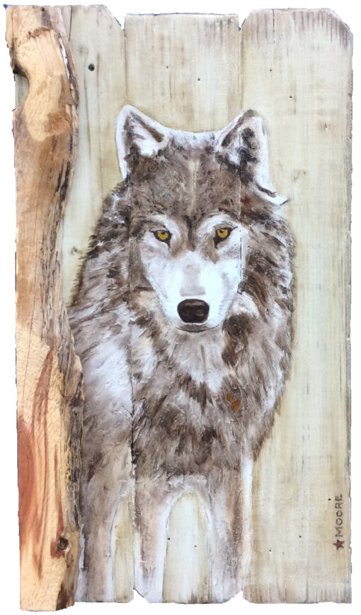 Keith Moore Gray Wolf 16x31