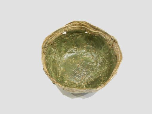 Janet McGregor Dunn Barrel Green Tan top