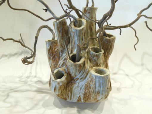 Marilyn Austin Coral Vase close up