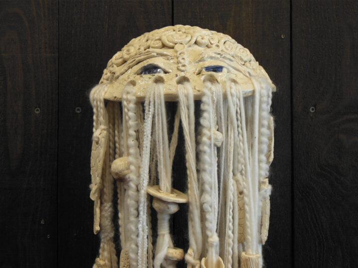 Marilyn Austin White Mask 1 Face upclose