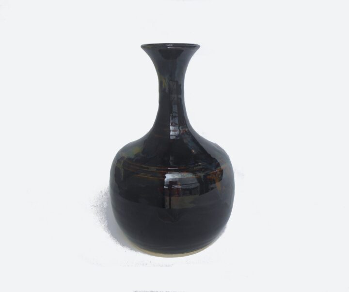 Black Bottle with neck by Bobby Vaillancourt