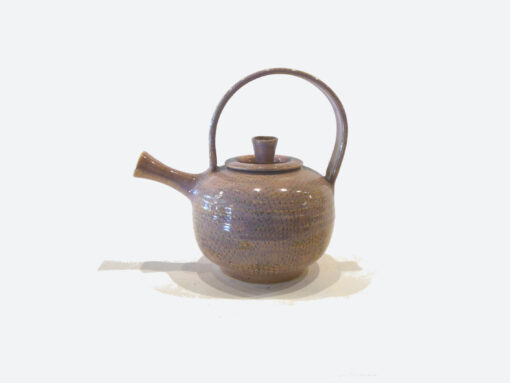 Tea Pot wil handle Coral by Bobby Vaillancourt