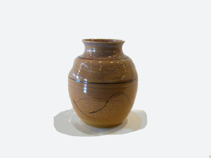Vase with design Sand Color by Bobby Vaillancourt