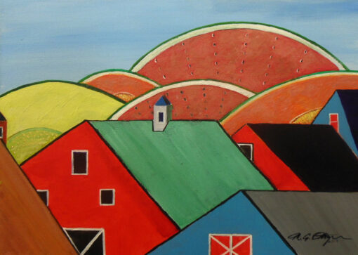 A Crowd of Barns and Melons by Michael Ottensmeyer