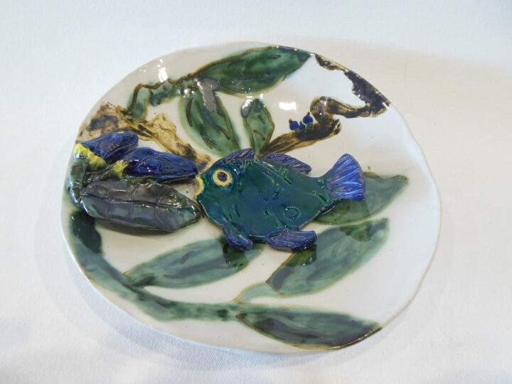 Fish and Buds Bowl by Jeanine Bradfield 1