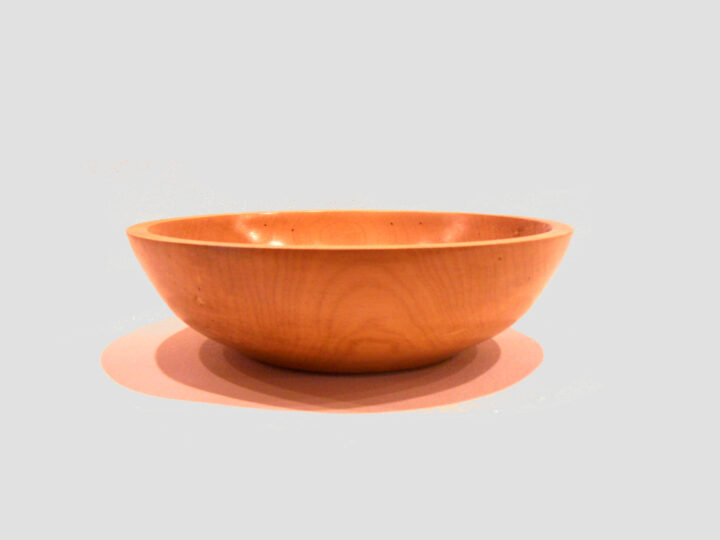 Cherry Wood Bowl by Harold Lawrence side HL11