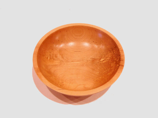 Cherry Wood Bowl by Harold Lawrence top HL11