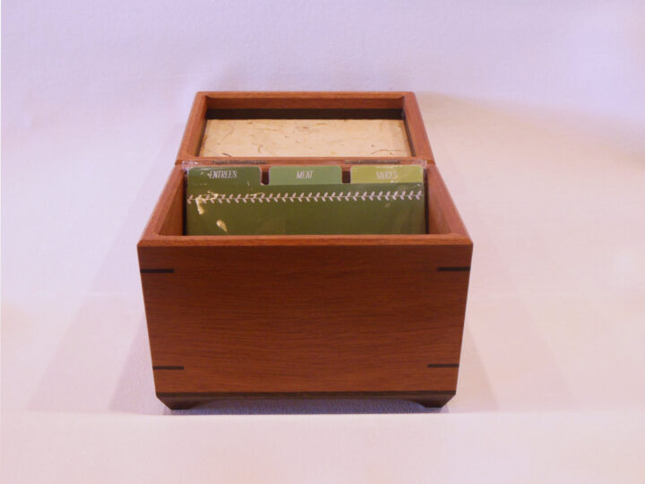 Full size recipe box by Mike Riedel front open