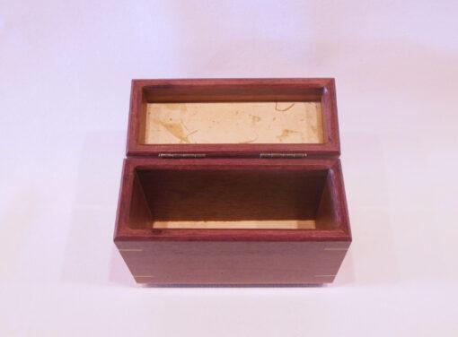 Half size recipe box by Mike Riedel open inside