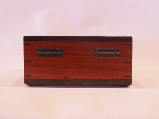 Keepsake box with latch by Mike Riedel back