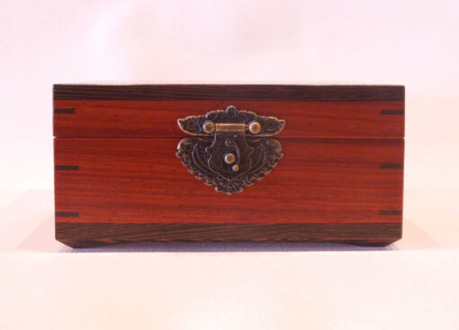 Keepsake box with latch by Mike Riedel front closed