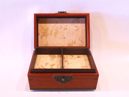 Keepsake box with latch by Mike Riedel open