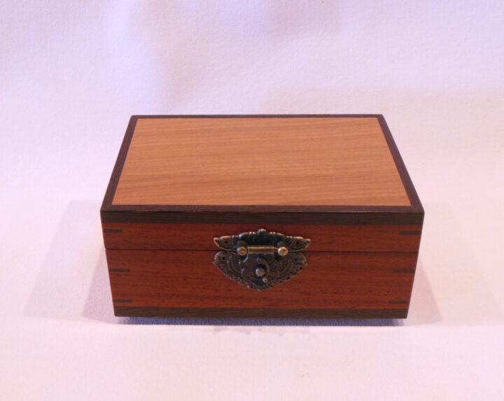 Keepsake box with latch by Mike Riedel top closed