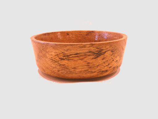 Splated Oak Bowl by Harold Lawrence side HL09